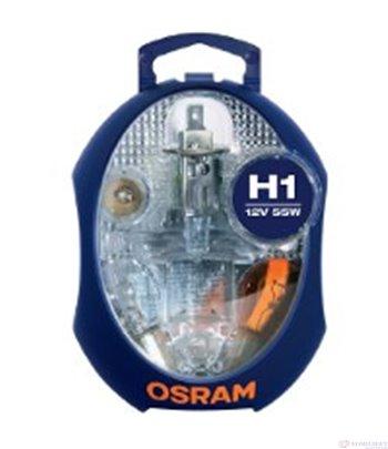 КРУШКИ РЕЗЕРВНИ H1 /Spare Lamps Kit CLKM H1 12V EURO UNV1 / STANDARD - OSRAM