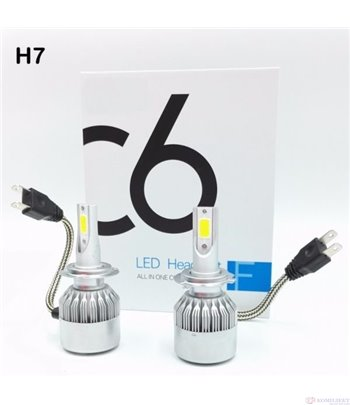 КРУШКИ ДИОДНИ LED фарове, халогени /  H7 36W / 2 броя к-т - C6