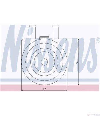 РАДИАТОР МАСЛЕН PEUGEOT 406 (1995-) 2.2 HDi - NISSENS