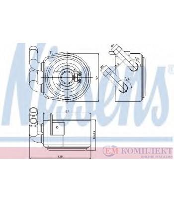 РАДИАТОР МАСЛЕН MAZDA MPV II (1999-) 3.0 i V6 - NISSENS