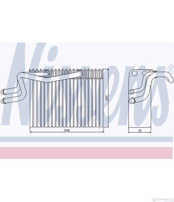 ИЗПАРИТЕЛ КЛИМАТИК RENAULT KANGOO EXPRESS (1997-) D 55 1.9 - NISSENS