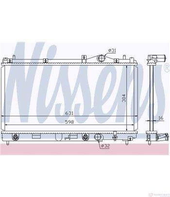 РАДИАТОР ВОДЕН CHRYSLER NEON (1994-) 1.8 16V - NISSENS