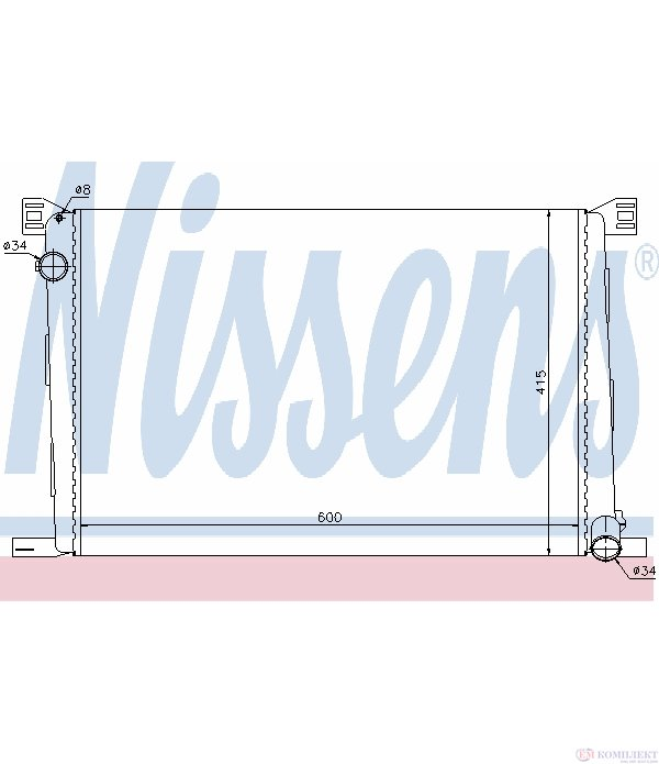 РАДИАТОР ВОДЕН MINI COOPER R56 (2006-) 1.6 - NISSENS