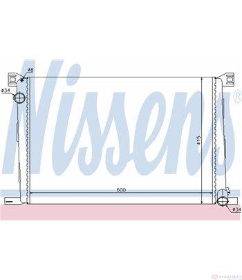 РАДИАТОР ВОДЕН MINI COOPER R55 (2007-) 1.6 - NISSENS