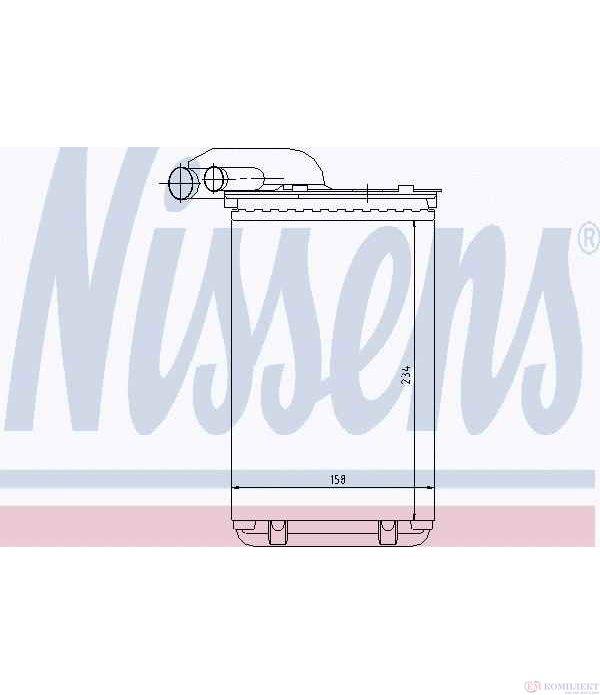 РАДИАТОР ПАРНО RENAULT CLIO I (1990-) 1.9 D - NISSENS